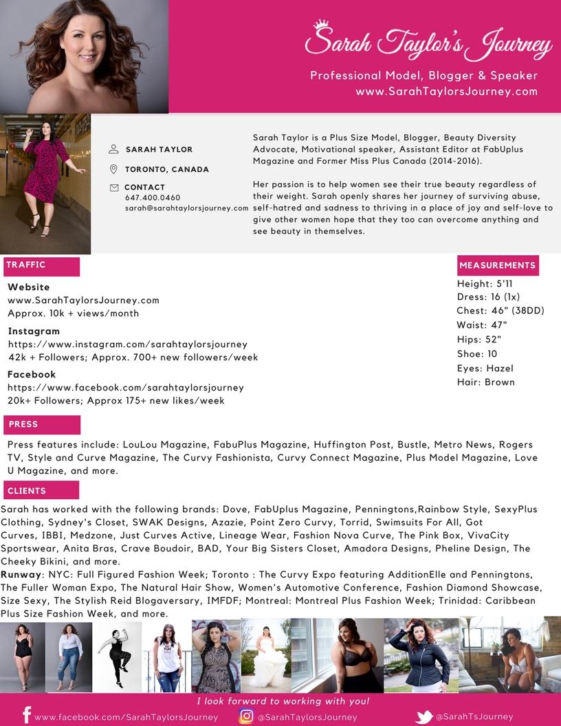 Sarah Taylor Media Kit April 2017
